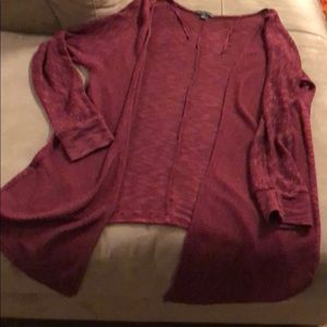 American Eagle 🦅 burgundy knit open cardi size M